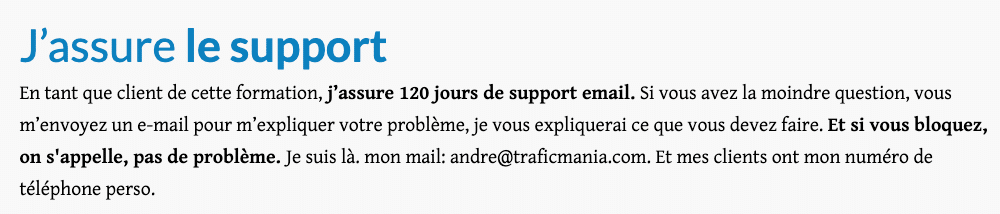 Support André Dubois - TraficMania